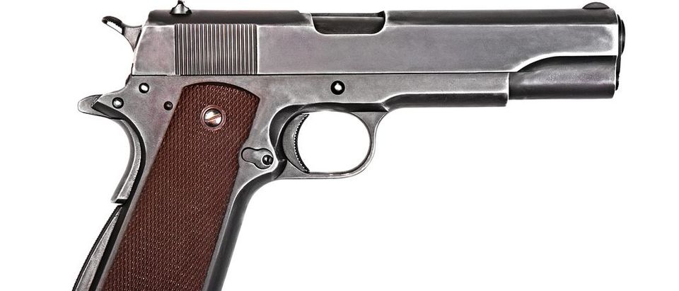 The Colt 1911 was a popular gun among many different criminals of the era. It also fired the powerful .45 ACP round. (Credit: Shutterstock)