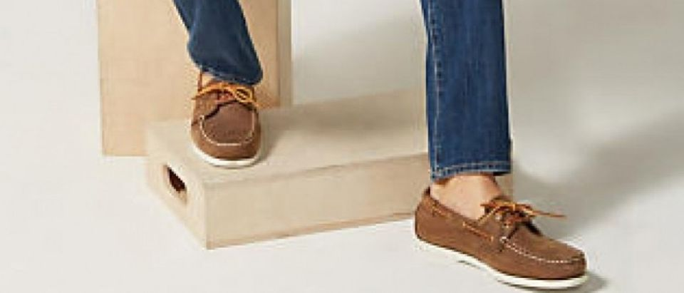 Shoes like this gentleman's are half off today (Photo via Men's Wearhouse)