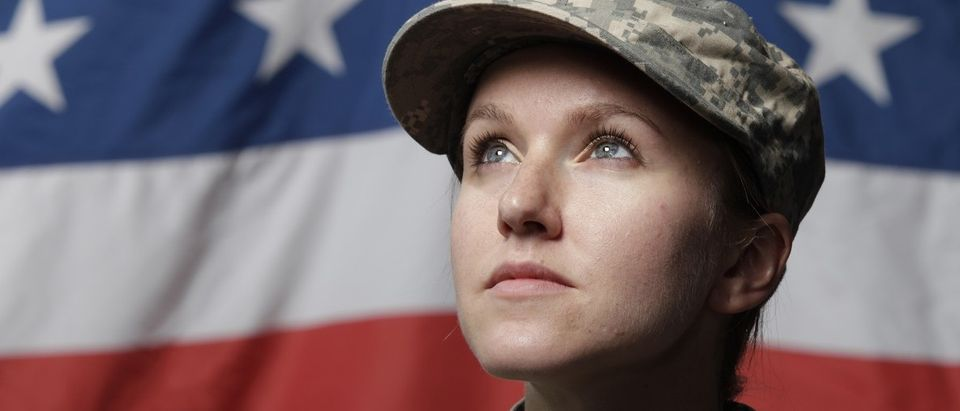 Female Soldier (Shutterstock)