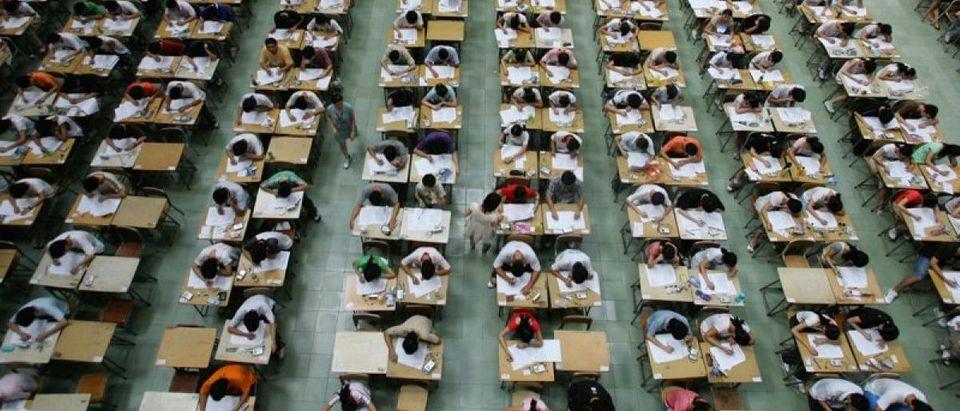 Hundreds of students taking China's Gaokao exam. [Reuters]