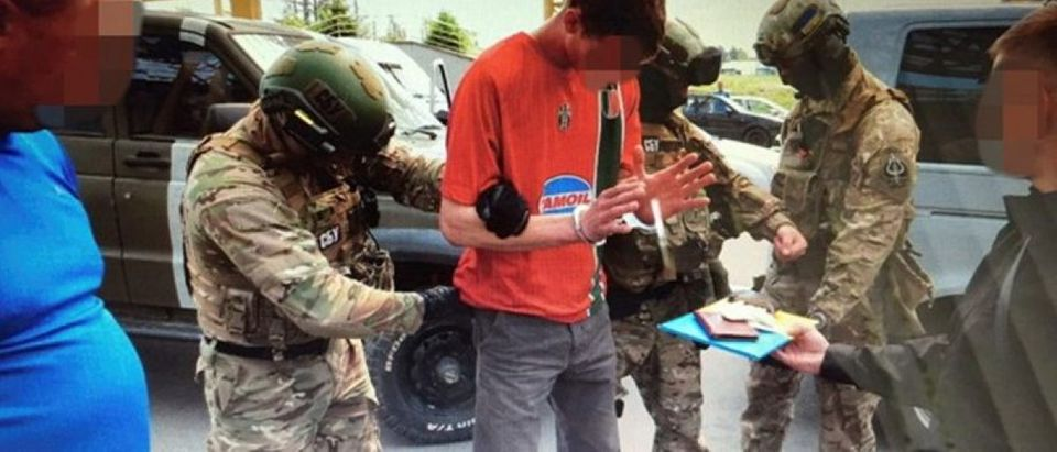 Members of Ukraine's state security service detain French citizen who had been planning attacks in France to coincide with the Euro 2016 football championship it is hosting on Ukrainian-Polish border in Volyn region