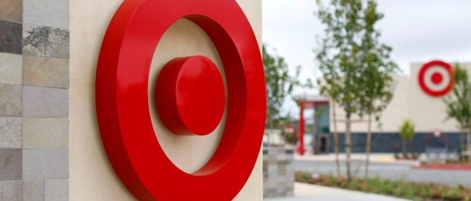 A newly constructed Target store is shown in San Diego, California