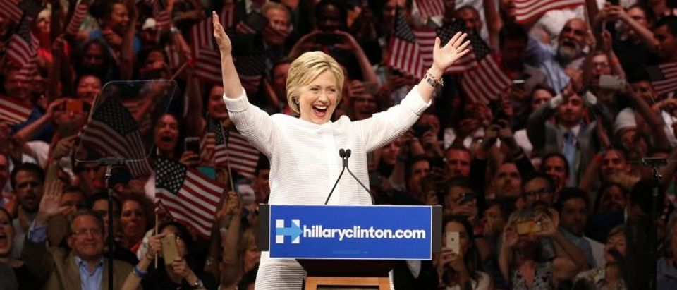 Democratic U.S. presidential candidate Hillary Clinton speaks in New York