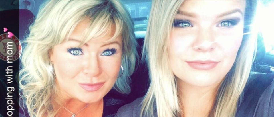 Christy Byrd Sheats with her daughter Taylor, Facebook