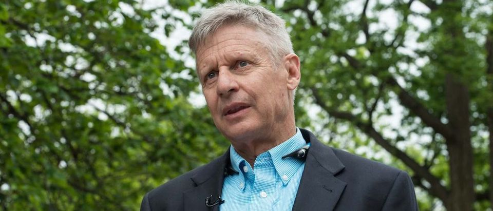 Libertarian Party presidential candidate Gary Johnson speaks to AFP during an interview in Washington, DC, on May 9, 2016