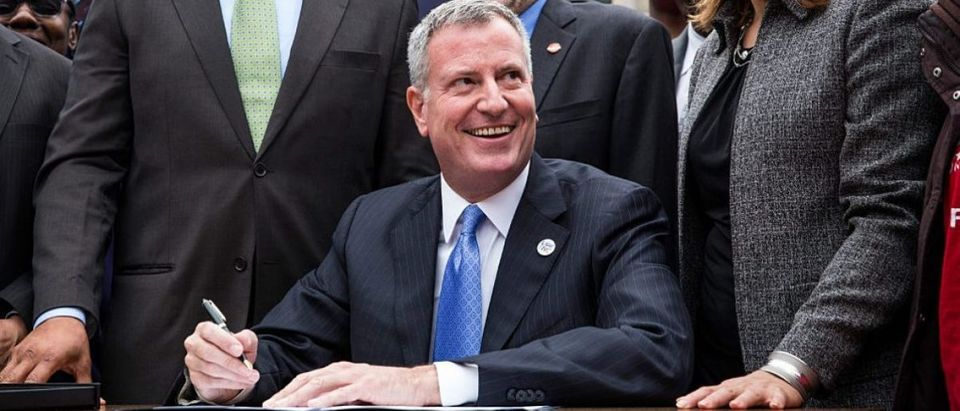 Mayor De Blasio Announces Executive Order Raising Living Wage