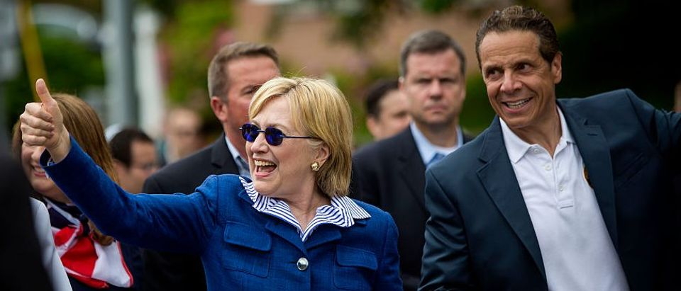 HIllary Clinton Attends Memorial Day Parade In Chappaqua, New York
