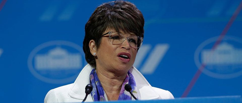 Valerie Jarrett, Senior Advisor to the President and Chair, White House Council on Women and Girls, speaks on a stage at the White House Summit on the United State of Women in Washington, DC (Getty Images)