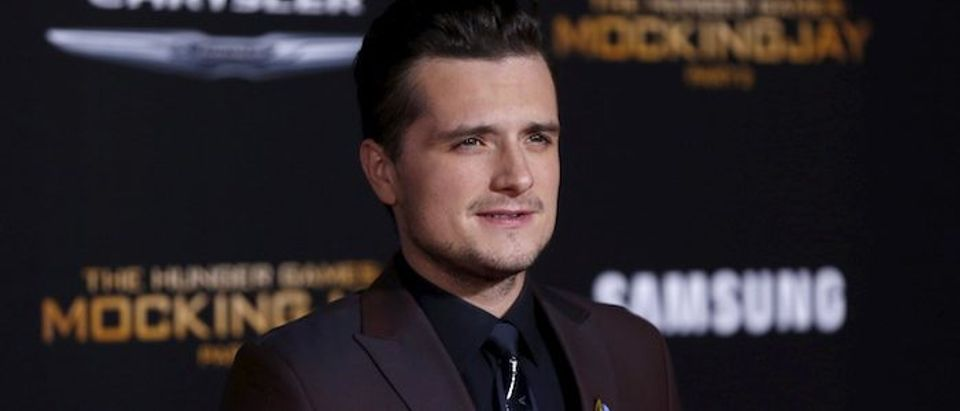 "Cast member Hutcherson poses at the premiere of ""The Hunger Games: Mockingjay - Part 2"" in Los Angeles"