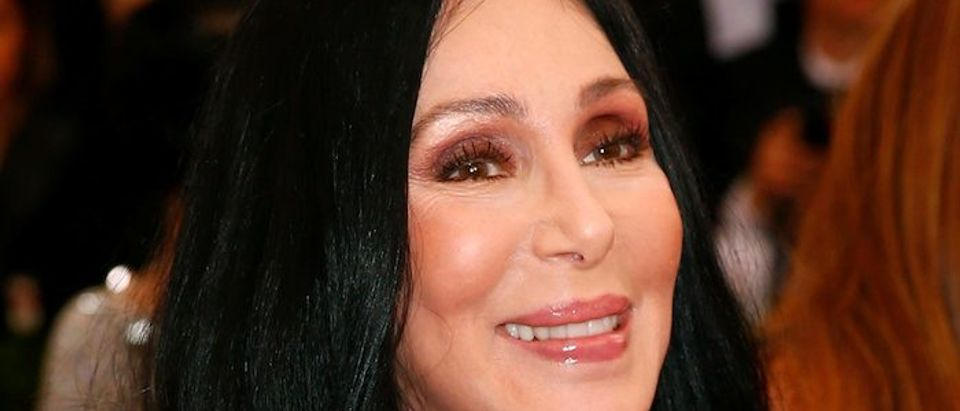 """Cher arrives at the Metropolitan Museum of Art Costume Institute Gala 2015 celebrating the opening of """"China: Through the Looking Glass,"""" in Manhattan"""