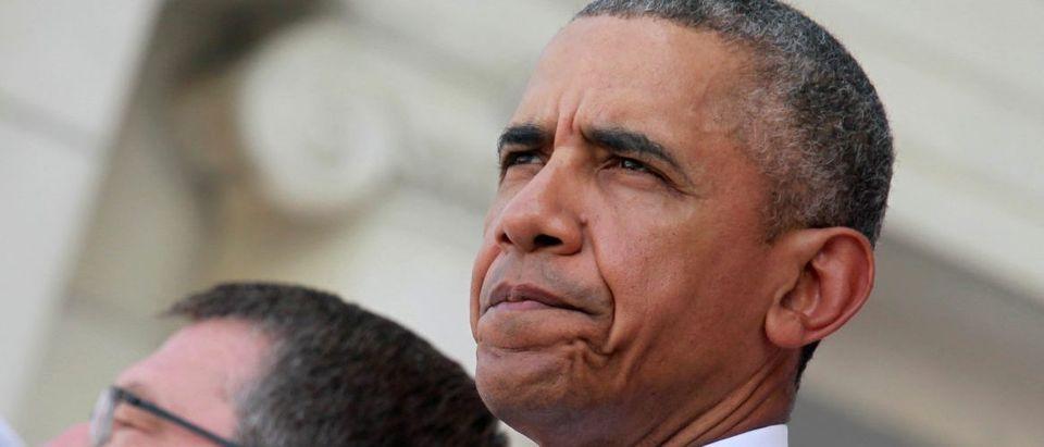 President Barack Obama attends the Memorial Day observance