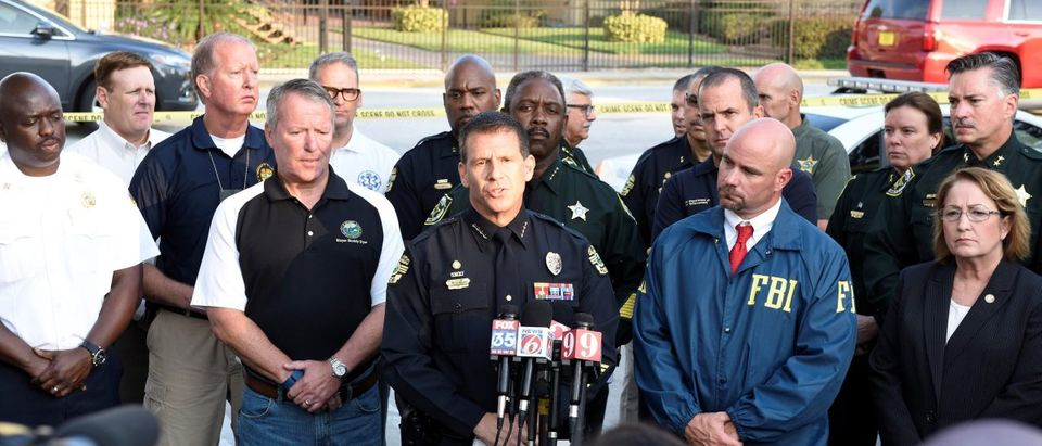 Orlando Police Chief John Mina and other city officials answer the media's questions about the Pulse nightclub shooting in Orlando, Florida June 12, 2016. (Reuters Pictures)