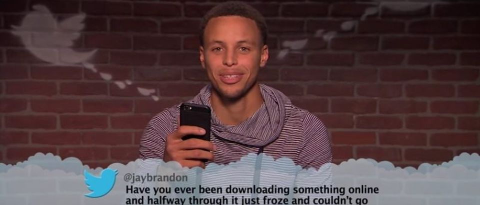 Stephy Curry reads mean Tweets (Jimmy Kimmel Live YouTube)