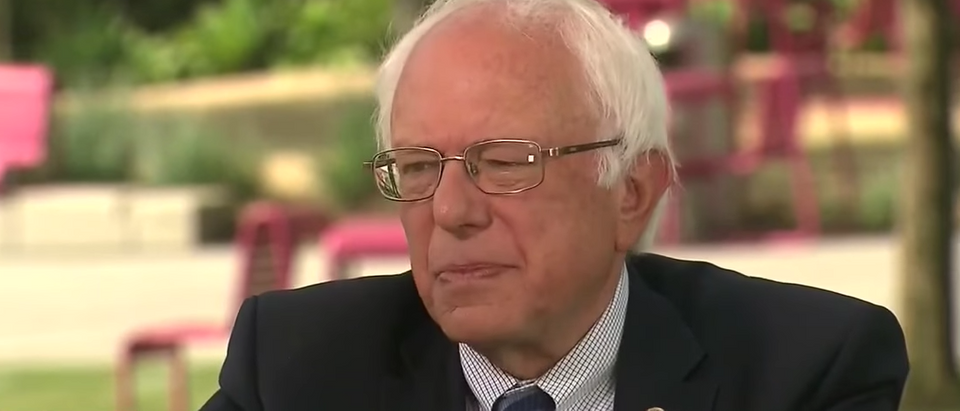 Bernie Sanders interviewed by CNN's Jake Tapper, June 5, 2016. (Youtube screen grab)