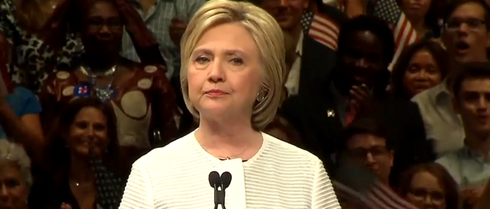 Hillary Clinton speaks to supporters in Brooklyn, N.Y. June 7, 2016. (Screen grab)