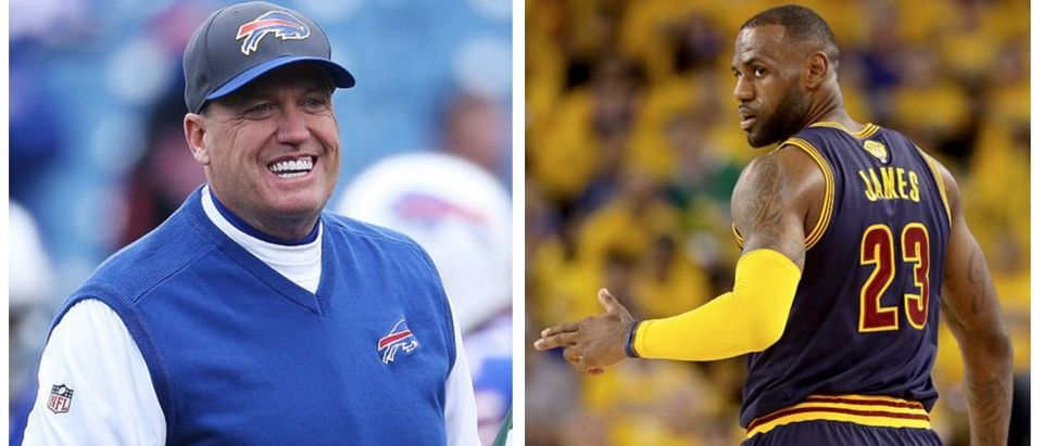 Rex Ryan, LeBron James (Getty Images)