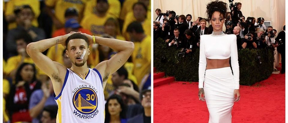 Steph Curry, Rihanna (Getty Images)
