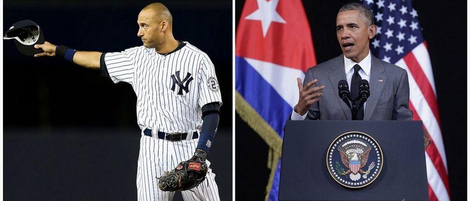 Derek Jeter, Obama (Credit: Getty Images)