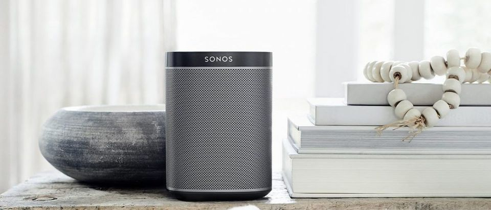 The Sonos PLAY:1 provides a powerful sound for how small it is (Photo via Amazon)
