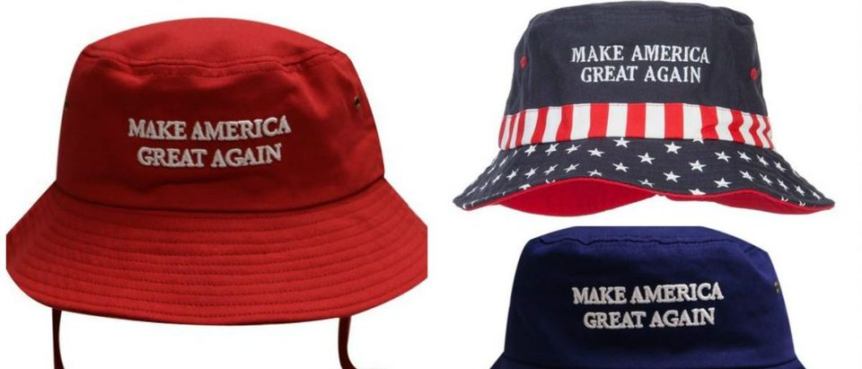 Probably everyone should have at least one of these bucket hats now that it's summer and Trump is the nominee