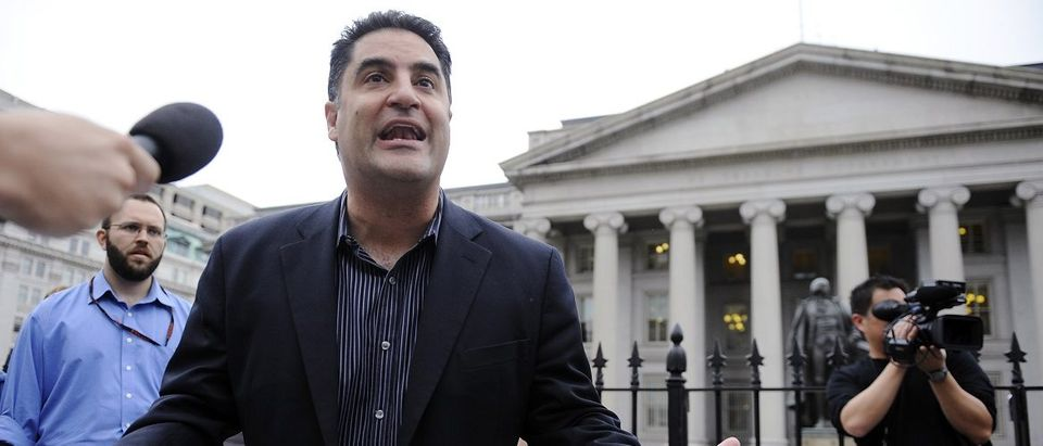 Radio show host Uygur leads a protest of government bailout money given to Goldman Sachs in Washington