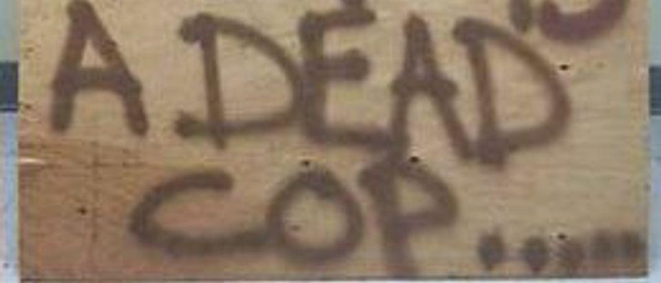 Dead Cop Sign, Falls Township Police Department
