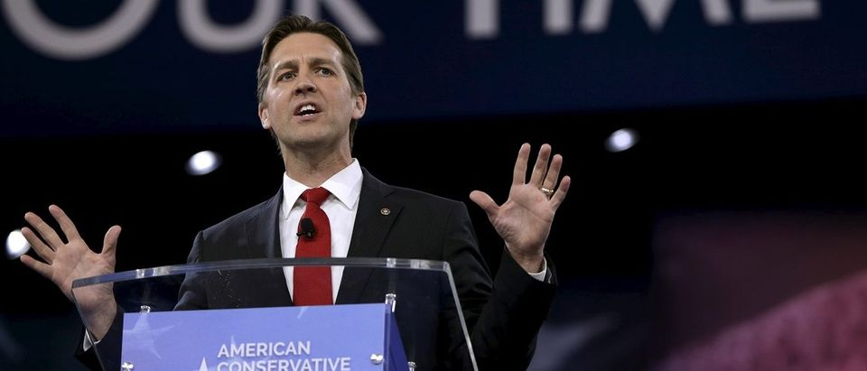 Senator Ben Sasse speaks at the American Conservative Union 2016 annual conference in Maryland