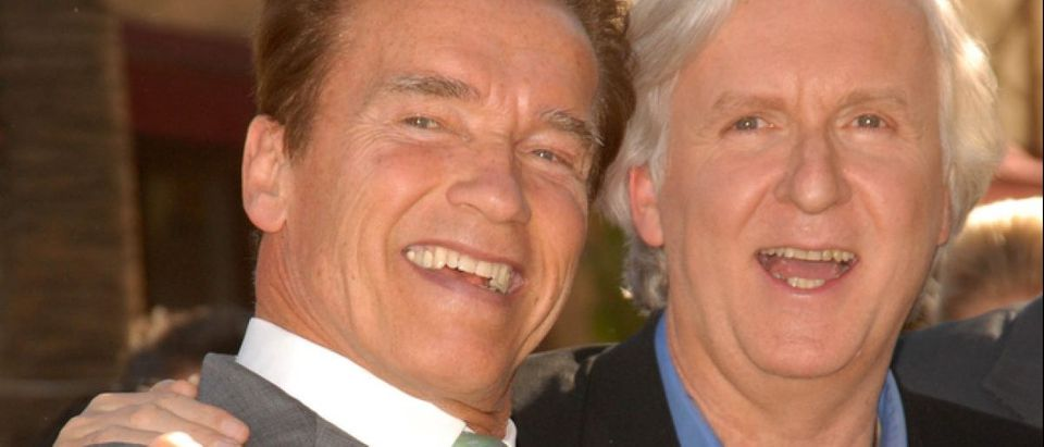 Arnold Schwarzenegger and James Cameron at the induction ceremony for James Cameron into the Hollywood Walk of Fame, Hollywood Blvd, Hollywood, CA. 12-18-09 (Credit: s_bukley / Shutterstock.com)