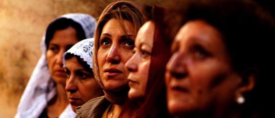 Christian women at prayer