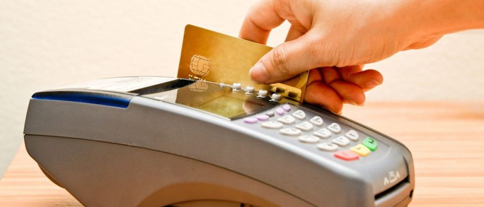 payment machine and Credit card in supermarket (Credit: hin255/Shuttershock)