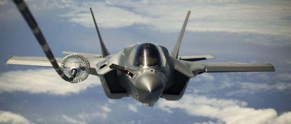 F-35s Over The Atlantic