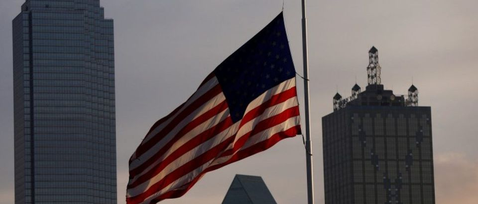 U.S. flag: REUTERS/Shannon Stapleton