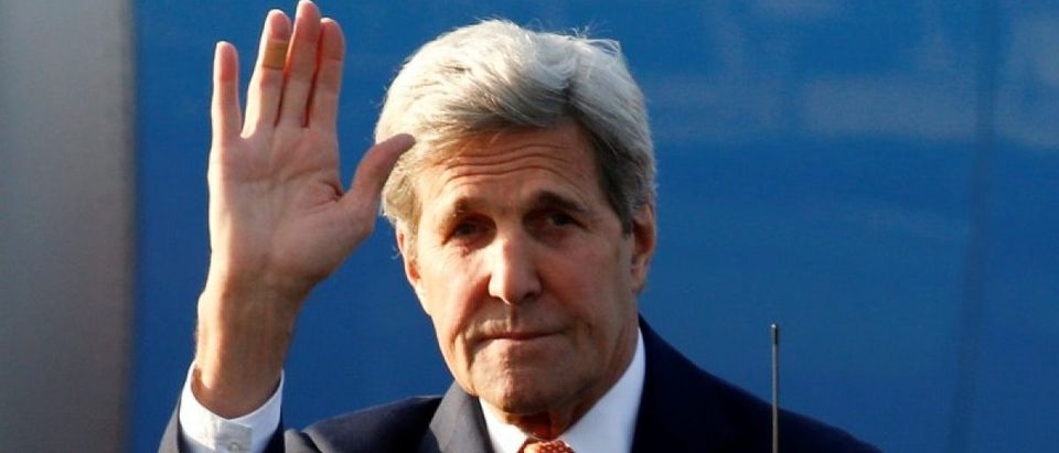 U.S. Secretary of State Kerry arrives in Moscow