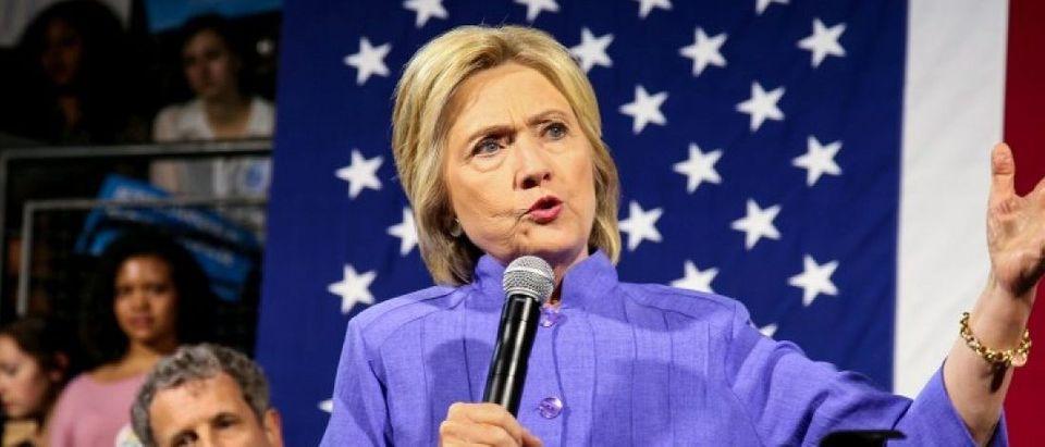 Presumptive Democratic presidential nominee Hillary Clinton speaks at the campus of the University of Cincinnati in Cincinnati