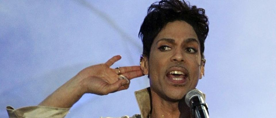 Prince performs at the Hop Farm Festival near Paddock Wood, southern England July 3, 2011