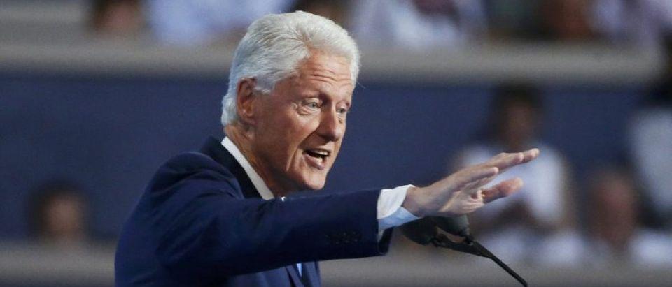 Former President Bill Clinton addresses the Democratic National Convention in Philadelphia, Pennsylvania, U.S. July 26, 2016. REUTERS/Lucy Nicholson