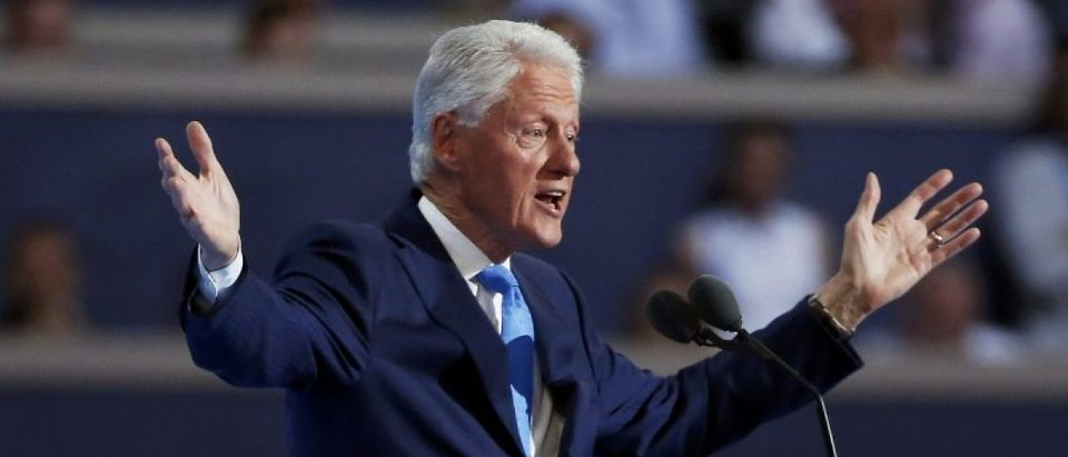 Former President Bill Clinton addresses the Democratic National Convention in Philadelphia, Pennsylvania, U.S. July 26, 2016. REUTERS/Lucy Nicholson