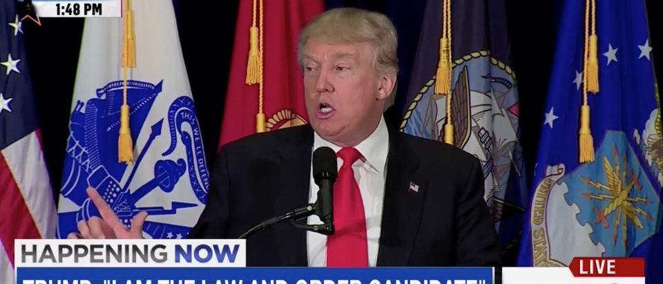 Donald Trump, Screen Grab MSNBC, 7-11-2016