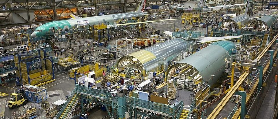 Boeing's Everett Plant Continues Assembly Of 777 And 787 Widebody Jets