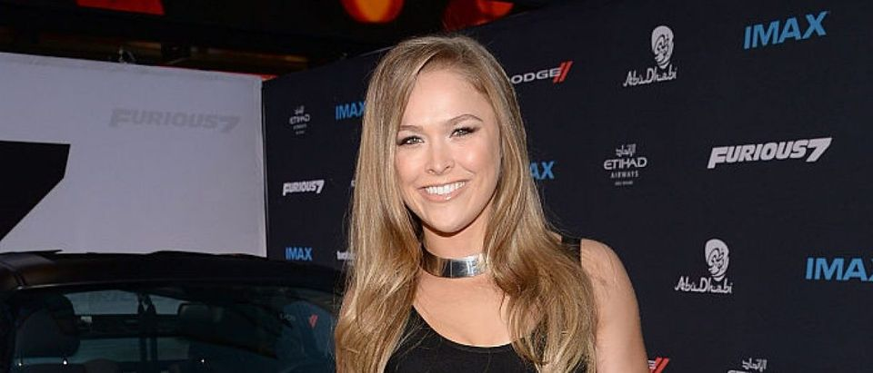 Mixed Martial Artist Ronda Rousey attends the Furious 7 Los Angeles Premiere Sponsored by Dodge at TCL Chinese 6 Theatres on April 1, 2015 in Hollywood, California