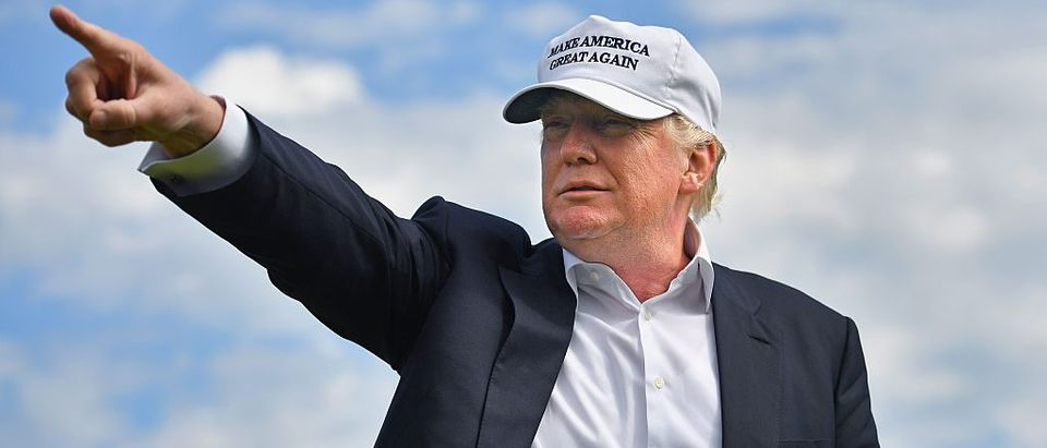 Donald Trump visits Trump International Golf Links in Aberdeen, Scotland. (Getty Images)
