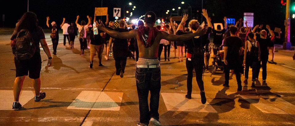 Black Lives Matter protesters march in St. Paul Minnesota (Getty Images)