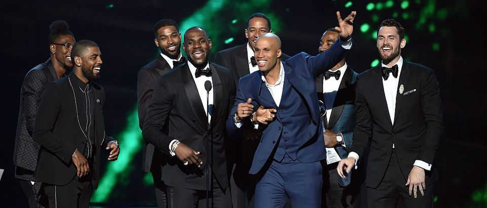 Team members of the Cleveland Cavaliers accept the award for Best Team onstage during the 2016 ESPYS at Microsoft Theater on July 13, 2016 in Los Angeles