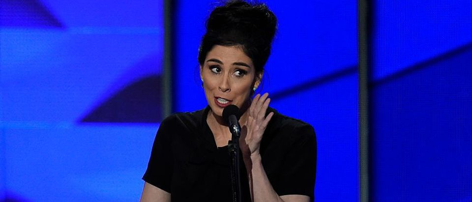 Comedian Sarah Silverman speaks during Day 1 of the Democratic National Convention at the Wells Fargo Center in Philadelphia, July 25, 2016. (Photo: SAUL LOEB/AFP/Getty Images)