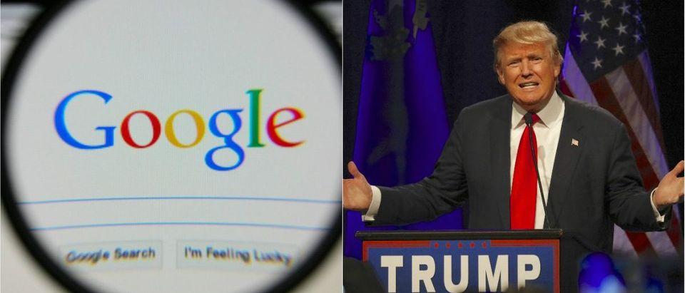 Google Search Box: Gil C/shutterstock.com, Donald Trump: Joseph Sohm/shutterstock.com