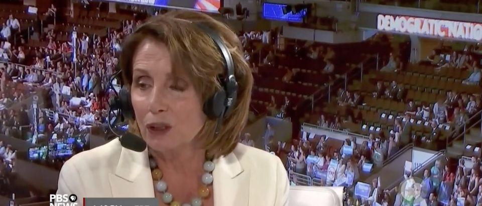 Nancy Pelosi, Screen Grab PBS, 7-27-2016
