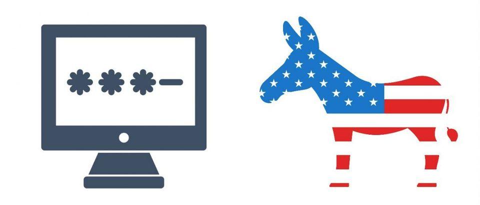 Democrat Donkey: Mad Dog/Shutterstock, Password Icon: Knyaz Yaqubov/Shutterstock