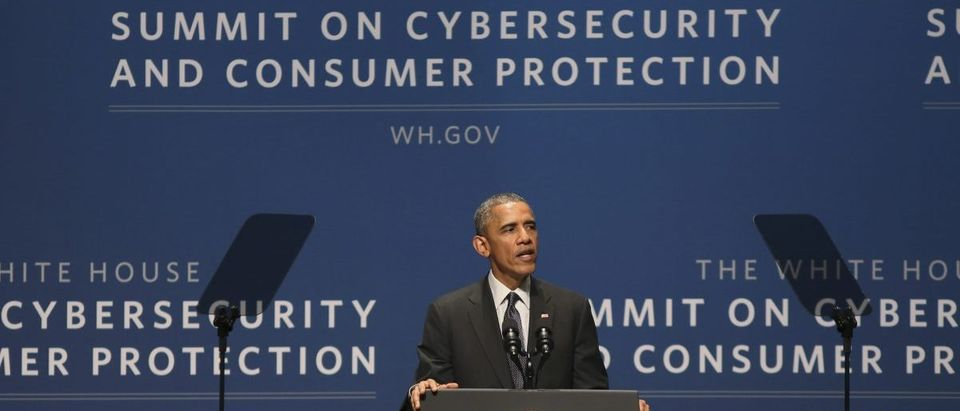 U.S. President Obama speaks at the White House summit on cybersecurity and consumer protection in Palo Alto