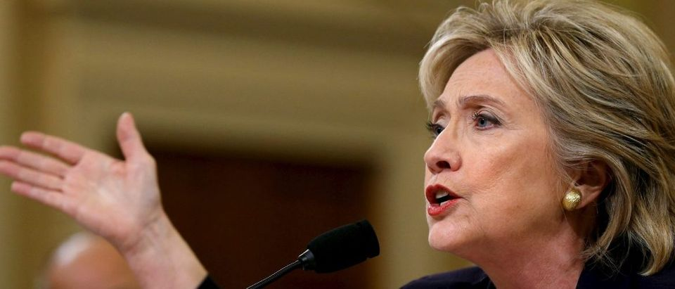 Clinton testifies before the House Select Committee on Benghazi, on Capitol Hill in Washington