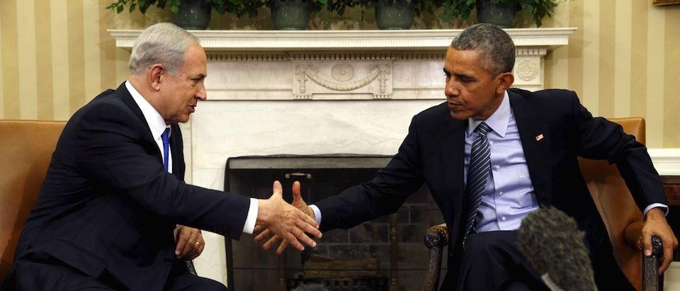 Obama meets Netanyahu at the White House in Washington
